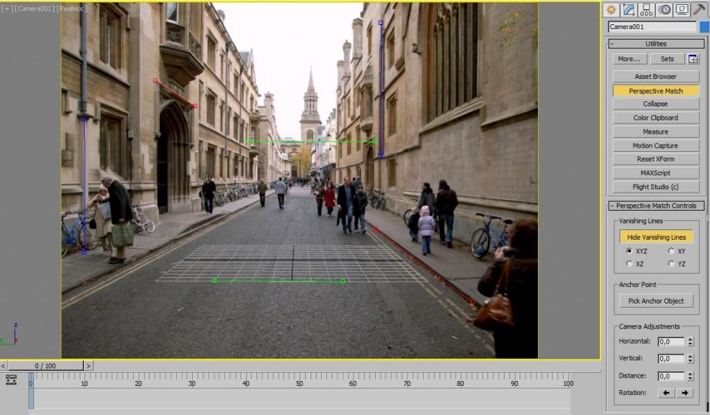 """Para colocar la foto de fondo y calibrar la perspectiva de la cámara usaremos la utilidad """"camera match assistant"""" que viene incorporada en Max"""