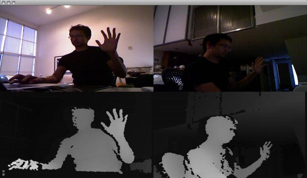 Cómo nos ve la Kinect creando una nube de puntos y mapas de profundidad.