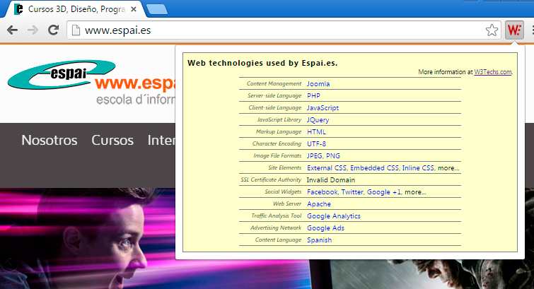 Tecnologías de otras webs