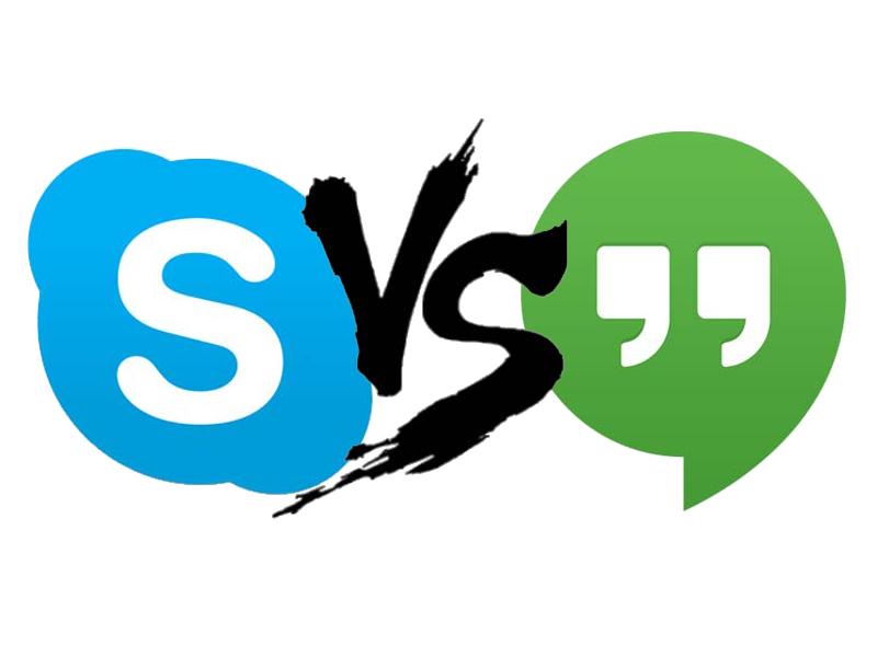 Videoconferencias Hangouts vs Skype