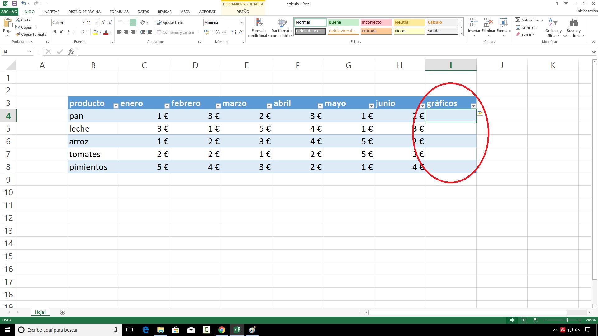 Excel minigraficos Espai