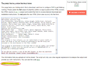 pulsar el botón Analyse my phpinfo() output