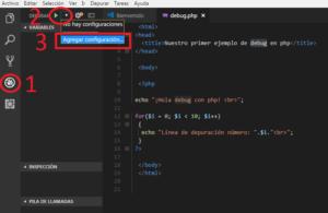 Agregar configuración para depurar PHP