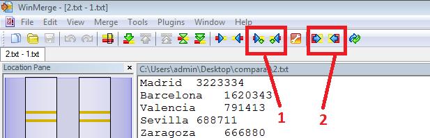 Espai comparar archivos con winmerge