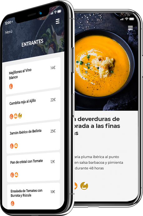carta restaurante en moviles