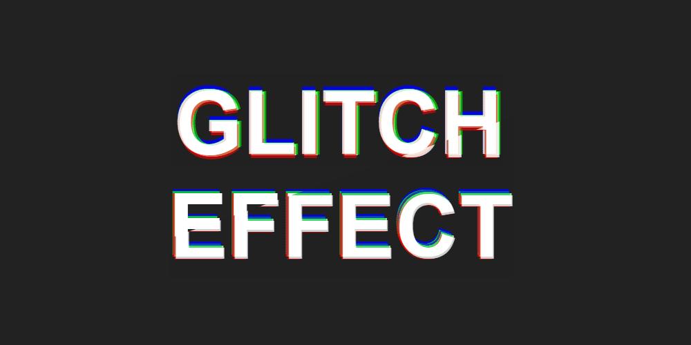 efecto glitch para texto css